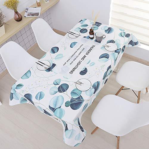 Tafelkleed Groen Waterdicht Tafelkleed Restaurant Keuken Anti-Hete Stof Cover Rechthoek