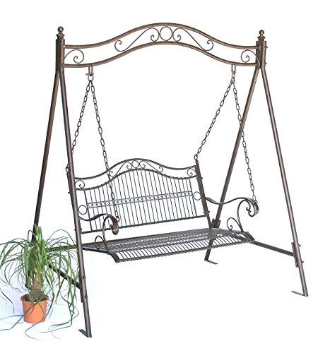 DanDiBo 082505-1 Columpio de jardín nostálgico de metal y hierro