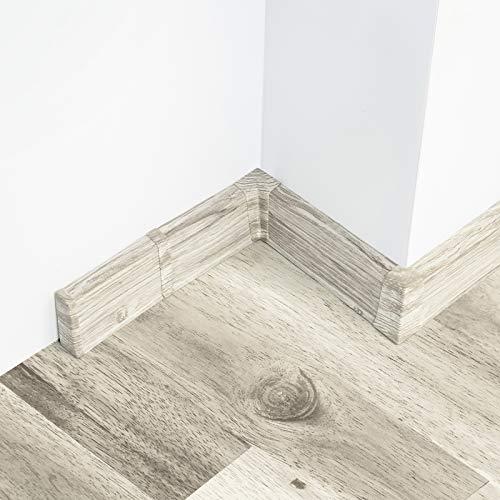 10 Meter Sockelleisten 52mm PVC Buche gold Laminatleisten Fussleisten aus Kunststoff PVC Laminat Dekore Fu/ßleisten DQ-PP