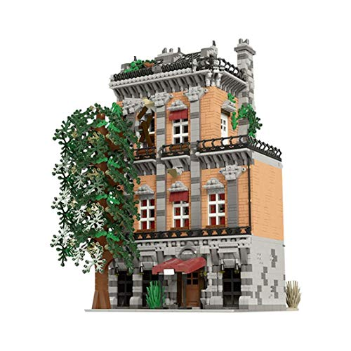 LINANNAN Architecture Building Blocks Model, 5283pcs Moc Old Town Hostel City House Street View Townhouse Tienda de Juguetes Juego de Edificios modulares Compatible con Lego