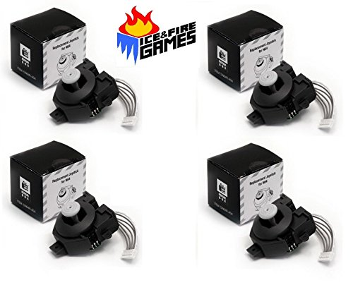 Set of 4 New Replacement Joysticks for N64 Controller (Nintendo 64 Thumbstick)