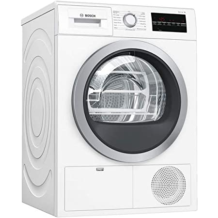 Sèche linge Condensation Bosch WTG85409FF - Condensation électronique - Chargement Frontal - Indicateur temps restant - 64 décibels