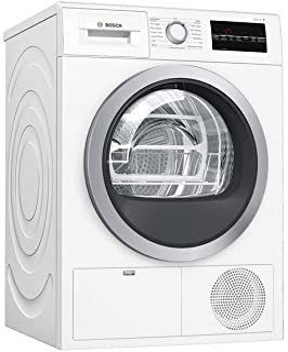 Sèche linge Condensation Bosch WTG85409FF - Condensation électronique - Chargement Frontal - Indicateur temps restant - 64...