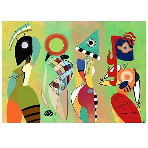 Cuadro Lienzo, Impresión Digital - Las Musas De Kandinsky, cm. 50x70 - Decoración Pared