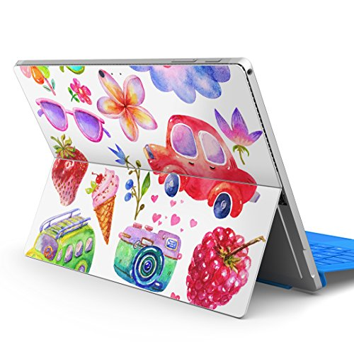 igsticker Ultra Thin Premium Protective Back Stickers Skins Universal Tablet Decal Cover for Microsoft Surface Pro 4/ Pro 2017/ Pro 6(2018) 014805 Cute Illustration Colorful