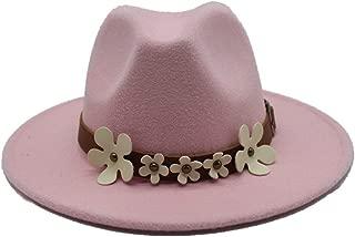 Hat Casual Wild Hat Size 56-58CM Men Women Wool Fedora Hat With Flowers Church Jazz Hat Wool Trilby Fascinator Hat Fashion Hat