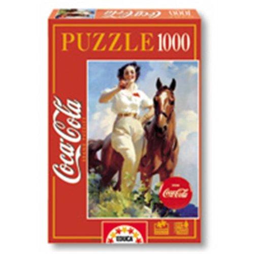 Puzzle Adulto 1000 Piezas Historia de Coca Cola Rompecabezas clásico Dibujos Animados Rompecabezas Juegos educativos para Adultos y niños para aliviar el estrés. (mini38x26cm)