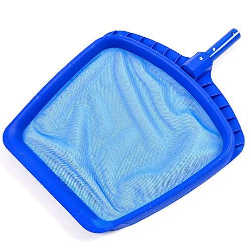 Swimmingpool Fischernetz blau verstärkt weiß Verschlüsselung seichtes Wasser Blatt Netto-Pool Schwimmbad spezielle Reinigungs net (Color : Blue)