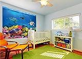 GREAT ART XXL Poster Aquarium Meerestiere | farbenfrohe Unterwasserwelt Meeresbewohner Ozean Fische Riff Delphin Schildkröte Korallenriff | Wandbild Fotoposter Wanddeko Fototapete | 140 x 100 cm - 4