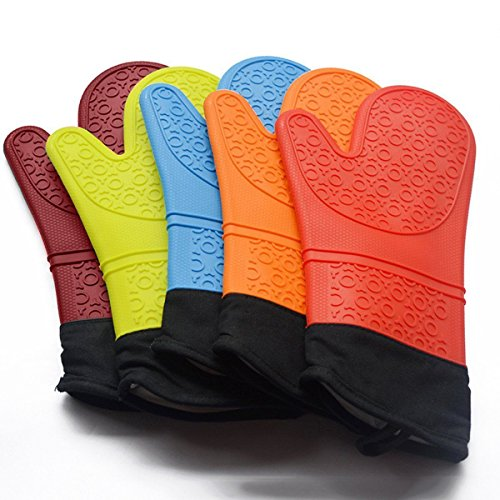 Heat Resistant Silicone Gloves Kitchen Tools Baking Microwave Oven Cooking Tool