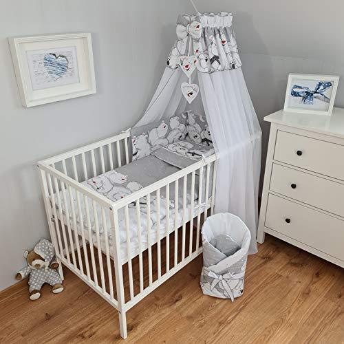 Bello Parure de lit 11 pièces pour bébé | Parure de lit pour bébé et enfant | Tour de lit pour bébé | Parure de lit pour bébé (ours polaire, 60 x 120)