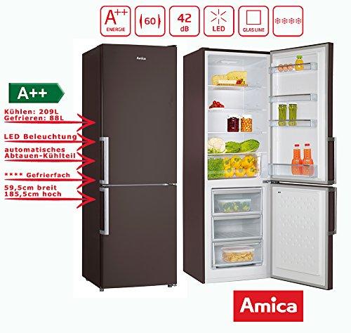 Amica KGC 15913 Kühl-Gefrier-Kombination Braun 297L Kühl-/Gefrierkombination/ColourFresh Line / 185,5 cm hoch