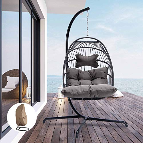 Outdoor Hanging Egg Chair available on Amazon