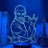 Luz nocturna LED 3D ilusión anime Haikyuu lámpara Ryunosuke Tanaka regalo 3D LED luz nocturna para niños dormitorio decoración manga Haikyuu Navidad ilusión lámpara de mesa 7 colores tocando
