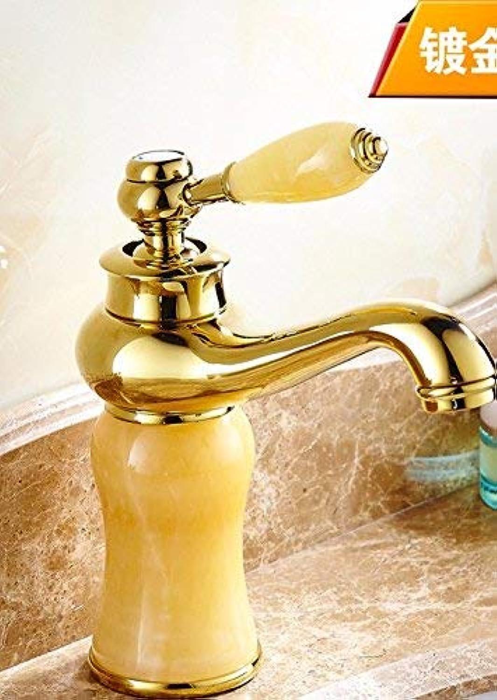 Ywqwdae Europischen Stil Retro alle Kupfer verGoldet waschbecken hei und kalt einzigen handgriff einlochmontage waschbecken Wasserhahn