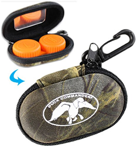 Duck Commander Contact Lens Case, with Zippered Hard-Shell case, Sturdy Plastic Clip for attaching to Baggage, Handy Mirror Within Zippered case, Stylish Camouflage Look.