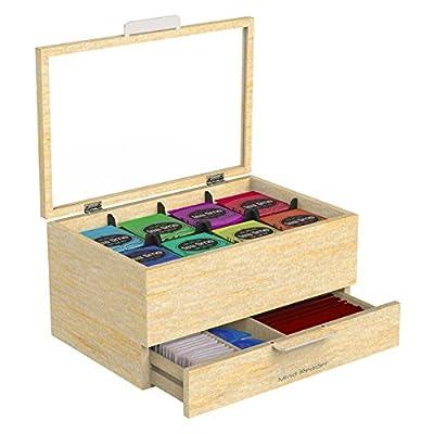 Mind Reader Royce Wood Tea Bag and Accessories Holder