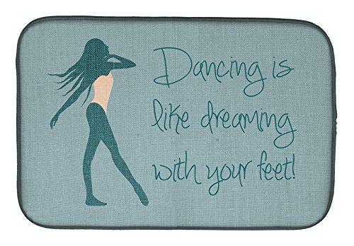 Caroline 's Treasures BB5380DDM Dancing Is Like Dreaming #2' - Esterilla de secado de platos, 35,5 x 53,3 cm, multicolor