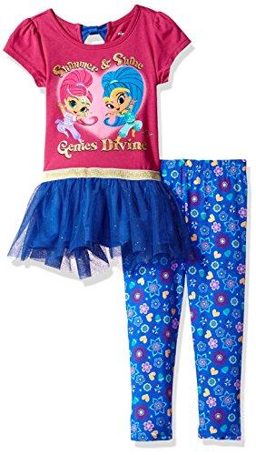 Nickelodeon Girls' Two-Piece Stripe Fleece Hoodie And Legging Set