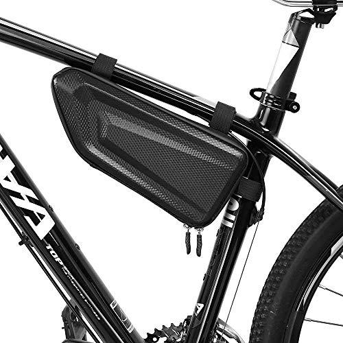 SEESEE.U Sac de vélo - Sac de Cadre de Rangement de vélo, Sacoche de Cadre de Selle de Triangle de vélo pour Le vélo de Montagne, Accessoires de vélo Sac de Waterof pour téléphone, Portefeuille, clés