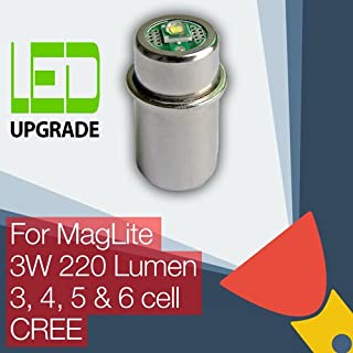 MagLite LED Conversión Actualizar Bombilla Para Linternas 3D/3C 4D/4C 5/6D Celda CREE
