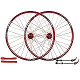 TYXTYX Bicicleta de 26'Ruedas de aleación Delanteras y traseras Juego de Ruedas MTB Freno de Disco Liberación rápida 7,8,9,10 Velocidad