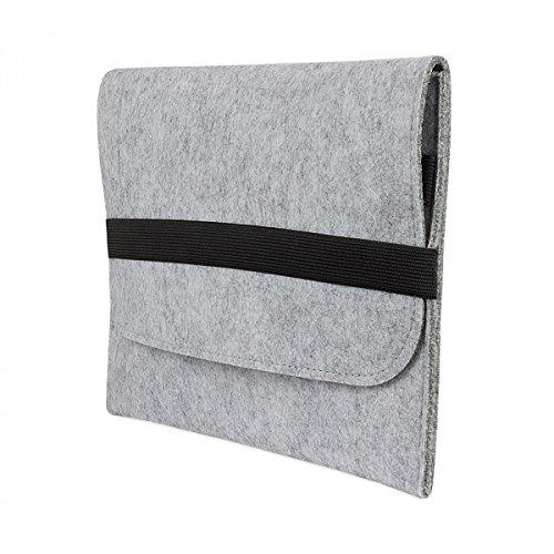 eFabrik hoes voor TrekStor SurfTab Breeze 9,6 quad tas grijs tablet beschermhoes beschermtas case cover sleeve vilt