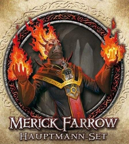 Fantasy Flight Games FFGD1308 Descent 2.Ed. -Merick Farrow, Hauptmann-Set DE, Kartenspiel
