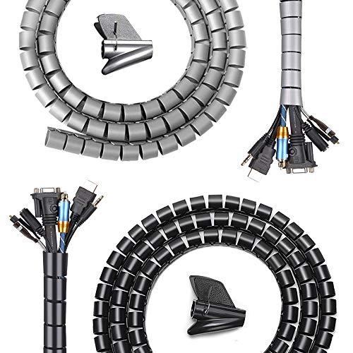 Sistema de gestión de cables con 2 herramientas de guía, tubo de...