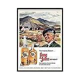 chtshjdtb Long John Whisky Vintage Alcohol Duction Art Posters Pintura Impresión Sala de estar Dormitorio Decoración del hogar -50X70 CM Sin marco 1...