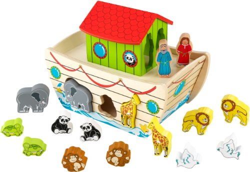 KidKraft 63244 Formensortierspiel Arche Noah, pastellfarben
