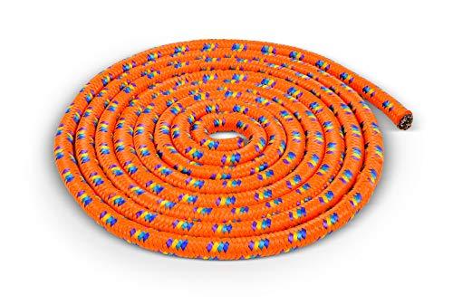 Corda da salto colorata e maneggevole – di alta qualità e resistente – 3 metri – arancione