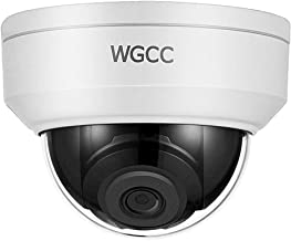 WGCC IP Poe Dome Camera,4MP WDR Vandal-Resistant Network Security Camera Outdoor with Micro SD Slot Audio Interface Support H.265 IP67 Waterproof 2.8mm Similar as hikvision DS-2CD2142FWD-IS 4mp Dome