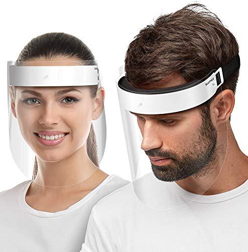 Blumax Visier Gesichtsschutz Schirm - Face Shield – Schutzschild 1x Halterung + 2 Visiere