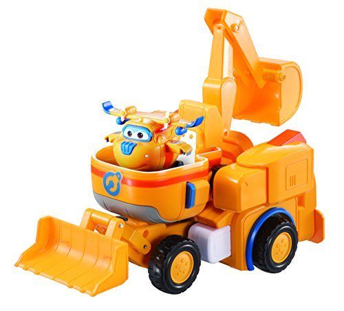 Super Wings - Donnie's Dozer | Transforming Toy Vehicle Set | Includes Transform-a-Bot Donnie Figure | 2' Scale