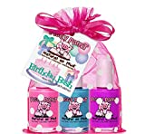 Piggy Paint 100% Non-toxic Girls Nail Polish - Safe, Chemical Free Low Odor for Kids, Gift Set, Birthday Bash
