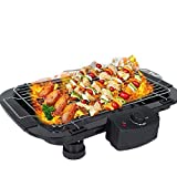 Abhsant 2000W Electric BBQ Grill Griddle Table Smokeless 3 in 1 Set for Electric Barbecue Grill Grilling Machine || Outdoor Multi-Function Double Electric Oven ,Black