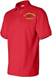 U.S. Marine Corps Eagle Globe and Anchor Veteran Polo