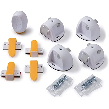 Safety 1ˢᵗ Adhesive Magnetic Lock System, 4 Locks And 1 Key