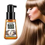 Cuidado del cabello con aceite de ricino negro - Aceite de ricino natural 100% puro o natural para el crecimiento del cabello de ceja potenciador de sérum de crecimiento de pestañas, Prensado en Frío