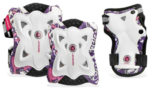 Powerslide Kinder Schoner Pro Butterfly Tri-Pack, Schwarz, XS