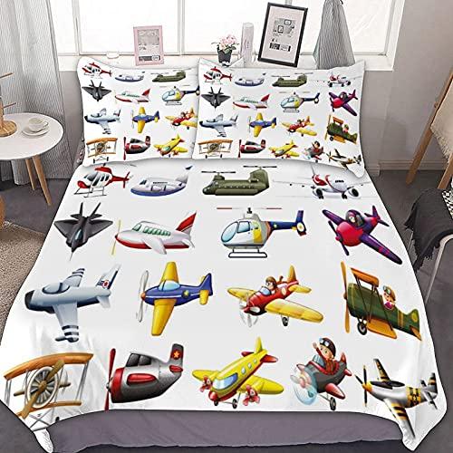 UOUO Bedding Digital Representation of Aero Vehicles Aircrafts Commercial...