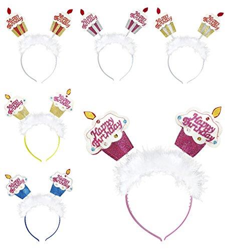 Widmann Geburtstagskuchen mit Kerzen auf Kunststoff-Stirnband