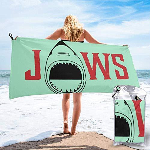 Yuanmeiju J a w s Unisex Camping Home Toalla de secado rápido Toallas de yoga Toallas de playa Toallas de gran tamaño Negro