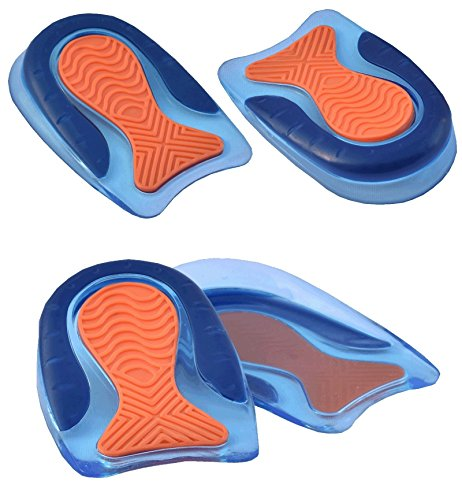 Medipaq Twee Paar Hoogwaardige Hielzooltjes met Gel - Extreem Comfortabel met Uitstekende Demping voor het Gehele Hielgebied - Plantaire Fasciitis