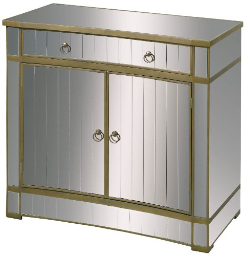 Hot Sale Sterling 6043624 Montreal Contemporary Medium Density Fiberboard Cabinet, 40-Inch, Mirrored Glass