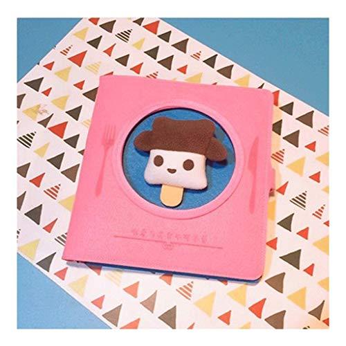 ZANZAN Cuaderno de hojas sueltas, tela de felpa tridimensional, bloc de notas, papelería, estudiante, 185 x 185 mm, página interior en blanco, cuaderno de dibujo (color: C)