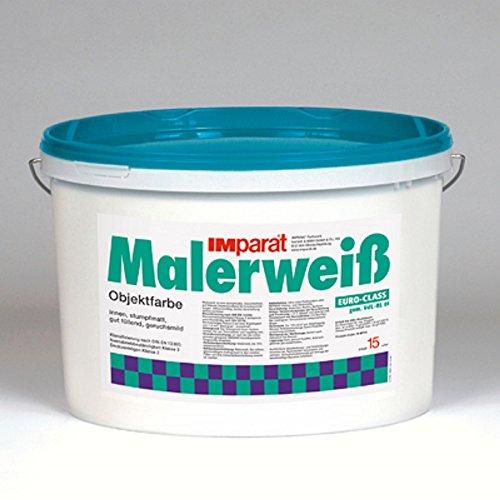 IMparat Malerweiß Wandfarbe Innenfarbe Innenweiß Objektfarbe Profiqualität 15 L