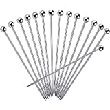 15PCS Cocktail Picks, Upgrade Stainless Steel Martini Picks, Reusable Metal Cocktail Skewers, 4.3 Inches Cocktail Toothpicks for Martinis Olives Appetizers Sandwich by FATLODA