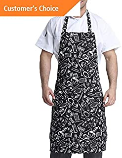 Kaputar Women Men Waterproof Kitchen Bib Apron Chef Cooking Baking Restaurant Aprons US | Model-235